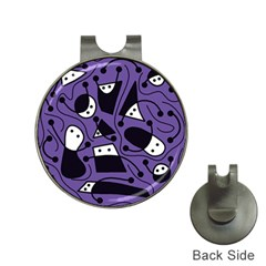 Playful abstract art - purple Hat Clips with Golf Markers