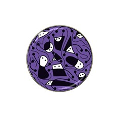 Playful abstract art - purple Hat Clip Ball Marker (10 pack)