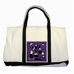 Playful abstract art - purple Two Tone Tote Bag