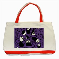 Playful abstract art - purple Classic Tote Bag (Red)