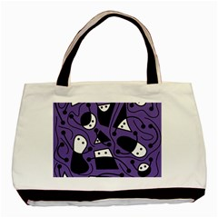 Playful abstract art - purple Basic Tote Bag (Two Sides)