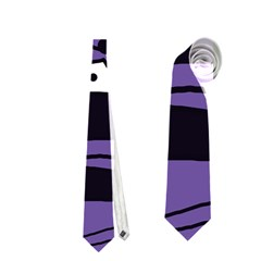 Playful abstract art - purple Neckties (Two Side)