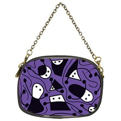 Playful abstract art - purple Chain Purses (One Side)