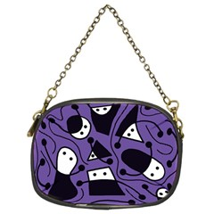 Playful abstract art - purple Chain Purses (Two Sides)
