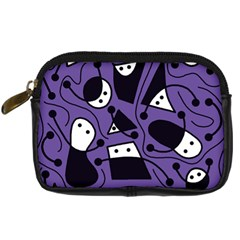 Playful abstract art - purple Digital Camera Cases