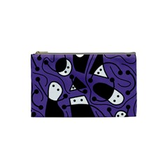 Playful abstract art - purple Cosmetic Bag (Small)