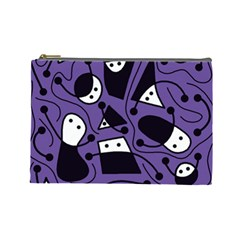 Playful abstract art - purple Cosmetic Bag (Large)