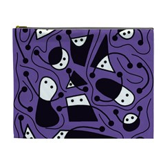 Playful abstract art - purple Cosmetic Bag (XL)