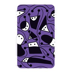 Playful abstract art - purple Memory Card Reader