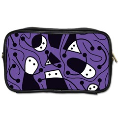 Playful abstract art - purple Toiletries Bags