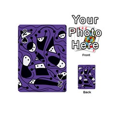 Playful abstract art - purple Playing Cards 54 (Mini)