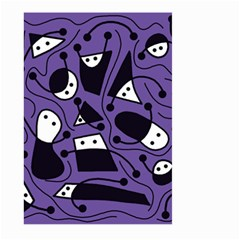Playful abstract art - purple Large Garden Flag (Two Sides)
