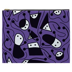 Playful abstract art - purple Cosmetic Bag (XXXL)