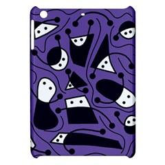 Playful abstract art - purple Apple iPad Mini Hardshell Case