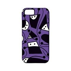 Playful abstract art - purple Apple iPhone 5 Classic Hardshell Case (PC+Silicone)