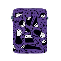 Playful abstract art - purple Apple iPad 2/3/4 Protective Soft Cases