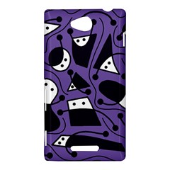 Playful abstract art - purple Sony Xperia C (S39H)