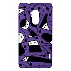 Playful abstract art - purple HTC One Max (T6) Hardshell Case