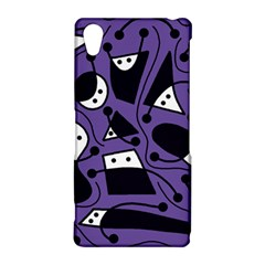 Playful abstract art - purple Sony Xperia Z2