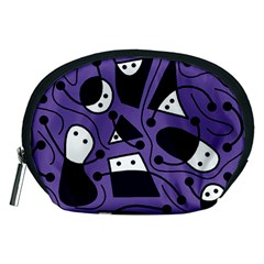 Playful abstract art - purple Accessory Pouches (Medium)