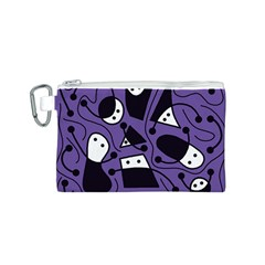 Playful abstract art - purple Canvas Cosmetic Bag (S)