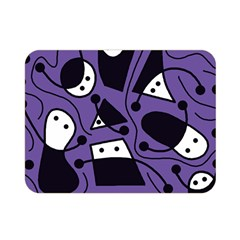 Playful abstract art - purple Double Sided Flano Blanket (Mini)