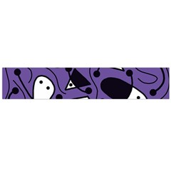 Playful abstract art - purple Flano Scarf (Large)