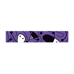 Playful abstract art - purple Flano Scarf (Mini)