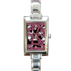 Playful abstraction Rectangle Italian Charm Watch