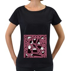 Playful Abstraction Women s Loose Fit T Shirt (black)