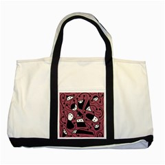 Playful abstraction Two Tone Tote Bag