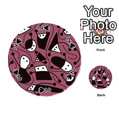 Playful abstraction Playing Cards 54 (Round)