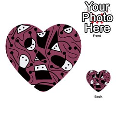 Playful abstraction Multi-purpose Cards (Heart)