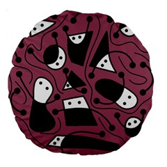 Playful abstraction Large 18  Premium Round Cushions
