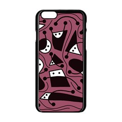 Playful abstraction Apple iPhone 6/6S Black Enamel Case