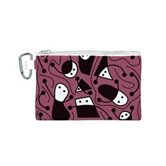 Playful abstraction Canvas Cosmetic Bag (S)
