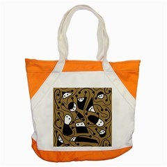 Playful abstract art - Brown Accent Tote Bag