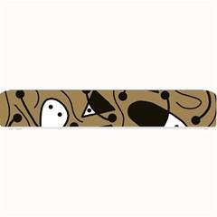 Playful abstract art - Brown Small Bar Mats