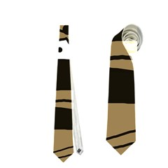 Playful abstract art - Brown Neckties (Two Side)