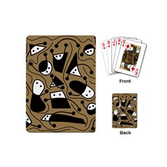 Playful abstract art - Brown Playing Cards (Mini)