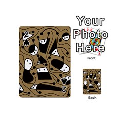 Playful abstract art - Brown Playing Cards 54 (Mini)