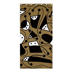 Playful abstract art - Brown Shower Curtain 36  x 72  (Stall)