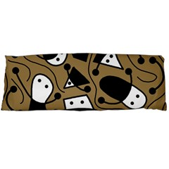 Playful abstract art - Brown Body Pillow Case Dakimakura (Two Sides)
