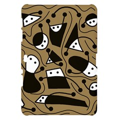 Playful abstract art - Brown Samsung Galaxy Tab 10.1  P7500 Hardshell Case
