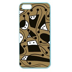 Playful abstract art - Brown Apple Seamless iPhone 5 Case (Color)