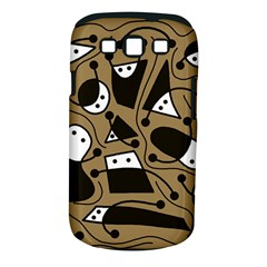 Playful abstract art - Brown Samsung Galaxy S III Classic Hardshell Case (PC+Silicone)