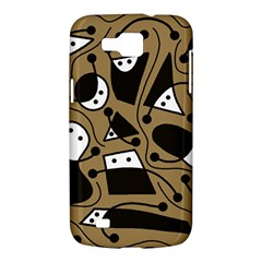 Playful abstract art - Brown Samsung Galaxy Premier I9260 Hardshell Case