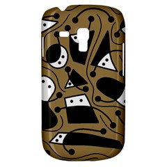 Playful abstract art - Brown Samsung Galaxy S3 MINI I8190 Hardshell Case