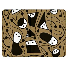 Playful abstract art - Brown Samsung Galaxy Tab 7  P1000 Flip Case