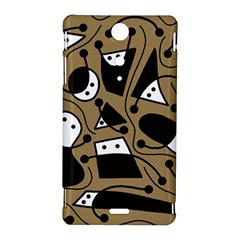 Playful abstract art - Brown Sony Xperia TX